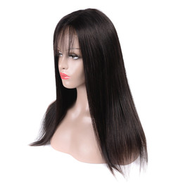18 Inch Straight Lace Wig Australia - Lace Closure Wigs 8A Brazilian Straight Virgin Hair With Baby Hair 4x4 Glueless Lace Frontal 8-18 inch Wigs 100% Unprocessed Human Hair