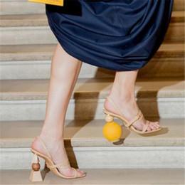 $enCountryForm.capitalKeyWord NZ - New 2019 Unique Heels Fashion T Show Prom Party Sandals Strap Sexy Summer Pumps Lady Wedding Bridal Shoes