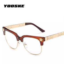 vintage prescription glasses NZ - Wholesale- Sunglasses Women Men Optics Prescription Spectacles Frames Vintage Plain Glass Eyewear Women Brand Designer