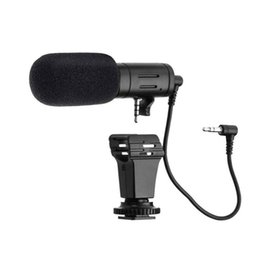 Microphone For Dslr Camera Australia - 3.5mm Condenser Mic For DSLR Smart Video Camera Outdoor Interview Microphone MIC-06 Mini Microphone For Samsung Xiaomi Phones