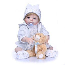 Toys For China NZ - Bebe Reborn New Handmade Full Silicone Vinyl Body Adorable Lifelike Toddler Baby Realistic Princess Baby Toy Doll For Children