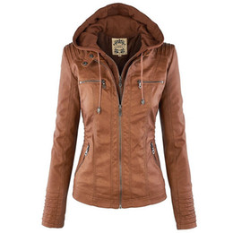 Discount women plus size faux leather - 2018 Winter Faux Leather Jacket Women Casual Basic Coats Plus Size 7XL Ladies Basic Jackets Waterproof Windproof Coats F