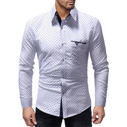 Best Printed Shirts Australia - 2018 new best selling men's shirts five-pointed star print men's casual slim long-sleeved shirt solid color printed long-sleeved