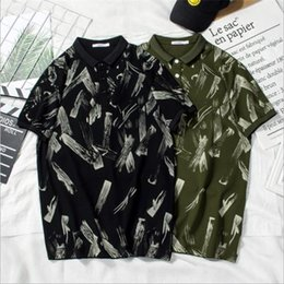 designer black shirts for men Australia - Fashion Designer Polo For Mens T shirts Summer Brand Mens Polo Shirts Short Sleeve Men T Shirts High Quality Casual T Black and Green color