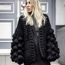 Hand knitted clotHing online shopping - Everything Sweater Try Hand Knitted Cardigan Women Beige Fashion Winter Coat Long Sleeve Cardigan Regular Women Winter Tops Clothes