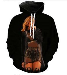 Rihanna 3d sweatshiRt online shopping - New Fashion Hip Hop Sweatshirt Men Women d Casual Hoodies Singer Rihanna Unisex Harajuku Style Loose Pullover Hoodies