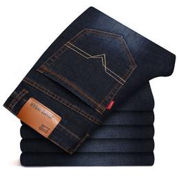 $enCountryForm.capitalKeyWord Australia - Spring cotton Jeans Men High quality Brand Denim trousers soft mens pants men's fashion Large Big size 40 42 black jeans