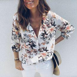 $enCountryForm.capitalKeyWord Australia - 2019 New Fashion Women Long Sleeve Casual V Neck Tops Loose Floral Spotted Blouse Tee Shirt