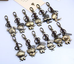 $enCountryForm.capitalKeyWord NZ - fashion vision punk leather keychains with animals zodiac dragon pendant key chain jewelry model no. NE949-2