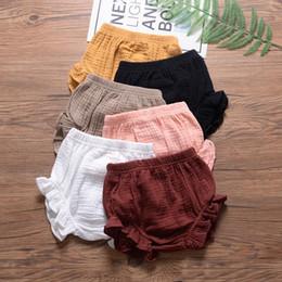 $enCountryForm.capitalKeyWord Australia - Baby Designer Short clothes summer Girls short solid colors design all-match 100% cotton baby girl summer short multi colors