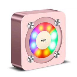 $enCountryForm.capitalKeyWord Australia - Portable Wireless Bluetooth Square Speaker Support FM LED Shinning TF Card Music Playing With Light Volume Control 50pcs