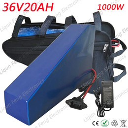 Lithium battery packaging online shopping - Electric Bike Triangle Battery V AH W Lithium Battery pack V with PVC Soft package case A BMS V A charger