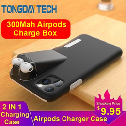 iphone charging case blue NZ - Tongdaytech 2IN1 Case For iPhone XS Se2 11 Pro Max Coque XR X 8 7 6 6S Plus Cover For Apple AirPods 2 1 With 300Mah Charging Box