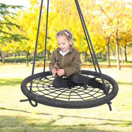venda por atacado ninho cadeira de balanço pendurado interior net corda tecelagem brinquedo assento Balanço das crianças crianças do pássaro das crianças brinquedos do jogo ao ar livre FFA4173 5
