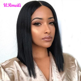 $enCountryForm.capitalKeyWord Australia - Short BOB Wigs Indian Straight Remy Hair Ombre 613 blonde Lace Front Human Hair Wig 150% Density Natural Color Bob Wig