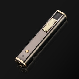 usb charged electronic cigarette lighter Australia - USB Charging Cigarette Lighter Windproof Lighter with LED Light Rechargeable Electric Wire Electronic Lighters good
