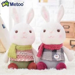 $enCountryForm.capitalKeyWord Australia - doll New Cute Cartoon Plush Metoo Doll 27X13cm Soft Stuffed Animal Bunny Rabbit Toy for Baby Girl Kids Toy