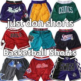 Vente en gros ja Morant Throwback Basketball Shorts Michael MJ juste faire Wade Hardaway Iverson Carter poches mitchell ness Pantalones de baloncesto