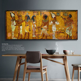 Egyptian Figures Australia - Vintage Egyptian Wall Picture Print on Canvas Large Egypt Canvas Art Print Wall Decor Poster for living room office decorations