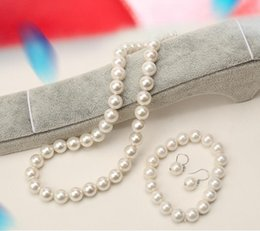 $enCountryForm.capitalKeyWord Australia - 10mm breeding mother-of-pearl sea water imitation Tahitian South Sea pearl necklace bracelet earrings set