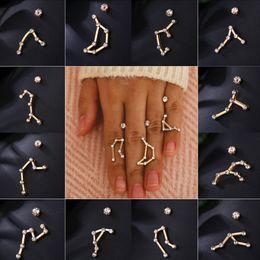$enCountryForm.capitalKeyWord Australia - Oculosoak 2019 New Constellation Ear Crawler Earrings Minimal Crystal Zirconia Zodiac Star Stud Earrings Women Jewelry Gifts
