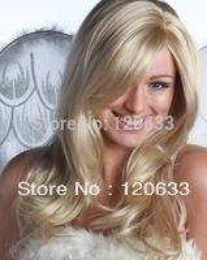 $enCountryForm.capitalKeyWord Australia - Wholesale Hair Nature Cheap Platinum Blonde medium wavy synthetic hair wig for women ladies and Fiber Hair wigs virgin pad