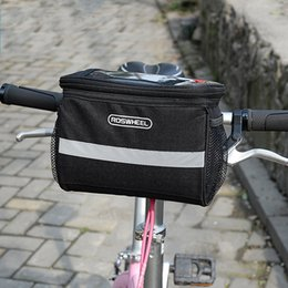 $enCountryForm.capitalKeyWord Australia - Bicycle Basket Handlebar Multifunction Insulated Bag with Silver Grey Reflective Stripe for Mountain Bike Outdoor Activity Cycling Pack Bag
