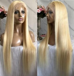 $enCountryForm.capitalKeyWord UK - Celebrity Wigs Lace Front Wig #613 Blonde Silky Straight 10A Grade Brazilian Virgin Human Hair Full Lace Wigs for Woman Fast Free Shipping