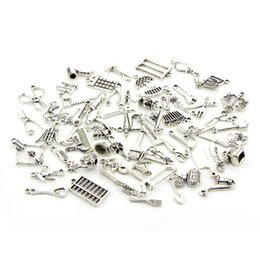 $enCountryForm.capitalKeyWord Australia - DHL Ship Tool Kit Design 65pcs set DIY Tibetan Silver Pendant Jewelry Accessories Charms for Chain Necklace Ankle Bracelet Wristband