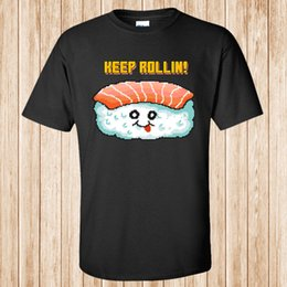 $enCountryForm.capitalKeyWord Australia - Sushi Pixel Art Food Character t-shirt RETRO styleMen Women Unisex Fashion tshirt Free Shipping