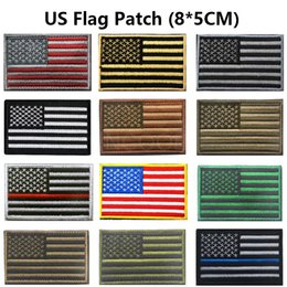 american backpacks Australia - Embroidery Patch US American Flag Patch 3D Tactical Morale Patches 3D Army Embroidered Badges For Jackets Backpack 8*5CM
