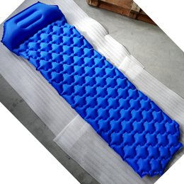 Wholesale Nylon Portable Outdoors Pads Easy To Install Air Leakage Prevention Inflatable Cushion With Pillows Single Person Mats Hot Sale hcI1