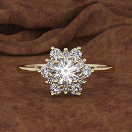 $enCountryForm.capitalKeyWord Australia - Fashion Luxury Snow Ring 925 Silver Zircon Ring Rose Gold Silver Retro Lady fashion rings womens