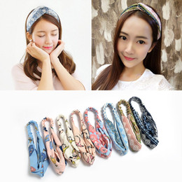 christmas headbands patterns NZ - New Europe Fashion 150 Colors Baby Head Bands Bunny Ear Knot Pattern Infant Headband Kids Elastic Headwear Children Hair Accessory BD0032