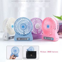 $enCountryForm.capitalKeyWord Australia - 1 Set Portable Personal Mini Fan 3 Speed Adjustable USB Fan With LED Light for Home Office Desk Cooler Summer Air Cooler