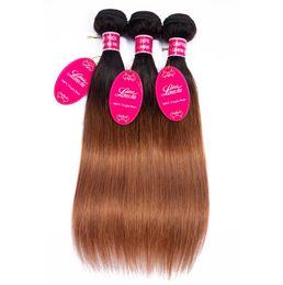 Discount ombre long weave - Tb 30 Long hairs Ombre Human Hair Bulks Bundles Brazilian Hair Weave Bundles Straight Body Wave FZP221