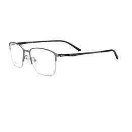 $enCountryForm.capitalKeyWord UK - Man bussiness Classics Halfrim Titanium Alloy Optical Frame Rectangle Shape Super Thin Double Colors Drawing Temples Design Eyewear R967