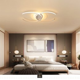 $enCountryForm.capitalKeyWord NZ - Led ceiling lamp Acrylic double C personality bedroom living room home fashion Indoor Lighting ceiling light RC Dimmable led Pendant Lamps