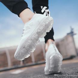 Korean canvas men shoes online shopping - Men s sports shoes men s spring Korean casual new flying weave shoes versatile trend mesh surface breathable men s shoes