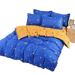$enCountryForm.capitalKeyWord Australia - Moon Stars Print Duvet Cover Sets For Single Double Bed Adults Twin Full Queen Size 100% Polyester Bedding Sets XF640-7