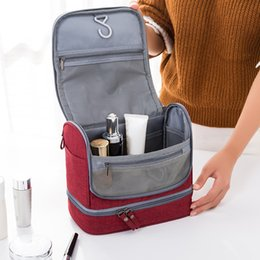 $enCountryForm.capitalKeyWord Australia - New travel wash storage bag portable hook large capacity waterproof mildew dry wet separation cosmetic bag