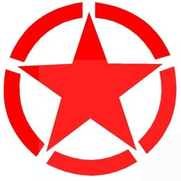 Cartoon Pointed Star Australia - Car Engine Head Cover Fuel Tank Cap Spare Tire Roof Stickers Five-pointed Star World War II Sticker Decals