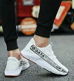 Spring Fall Canvas Shoes Australia - Spring Korean version of the trend of flying woven canvas shoes men's casual breathable sports shoes wild skate shoes