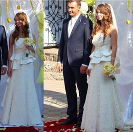 $enCountryForm.capitalKeyWord Australia - 2019 elegant strapless Wedding Dresses Bridal Gowns with full Lace skirts stunning vintage Wedding Gown lace up custom made vestidos de