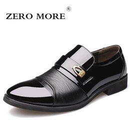 Slip Dresses For Sale Australia - ZERO MORE Mens Casual Shoes Hot Sale Patent Leather Formal Dresses Shoes For Men Pointed Toe Slip On Loafers Male Casual