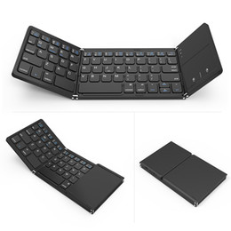 portable keyboard for android tablet Canada - portable mini foldable keyboards Bluetooth Wireless Keyboard with Touchpad Mouse for Windows,Android,ios,Tablet ipad,Phone wireless keyboard