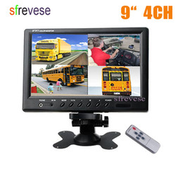 "12v lcd screen NZ - Vehicle Car Rear View 9"" LCD Monitor 4CH Quad Split Screen For Bus Truck Caravan Motorhome Camper 12V-24V"