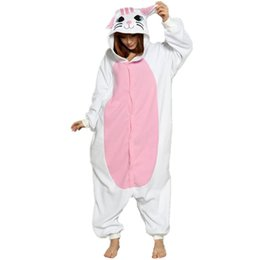 Cute White Cat Onesie Kigurumi Soft Animal Costume Women Jumpsuit For Adult  Pyjamas Sleepwear Halloween Pajamas Cosplay 58d81e6fa