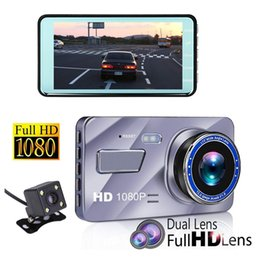 camera rearview mirror full hd UK - 1080P full HD car DVR car black box vehicle digital dashcam 2Ch 4 inches 170° wide view angle WDR starlight vision parking monitor