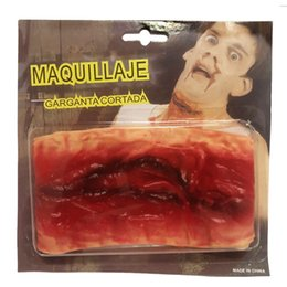 $enCountryForm.capitalKeyWord Australia - Scar sticker Makeup Costume Scary Mask Horror Halloween Masks Bloody Parasite Vampire terror realista realistic Party Mask DIY